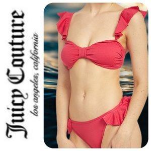 Juicy Couture Flutter Bandeau Bikini, XL - NWT